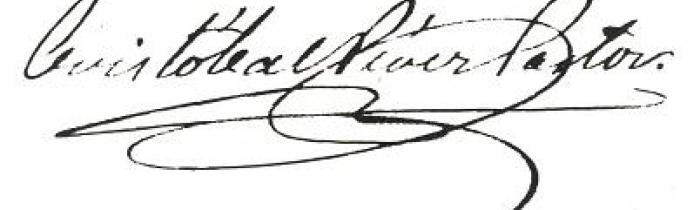 Firma de Cristóbal Pérez Pastor